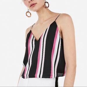 Satin striped cropped cami 💕